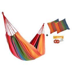 Zestaw hamakowy HW w kolorze 272 z poduszkami i zestawem montażowym, Tęczowy HW-PZS-272
