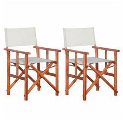 Komplet krzeseł reżyserskich Martin - biały, vidaxl_45946