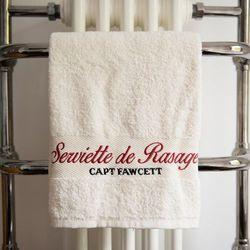 Captain fawcett, wielka brytania Cf, wysokiej jakości ręcznik do golenia 50 x 100 cm, materiał: 500g / 100% bawełna
