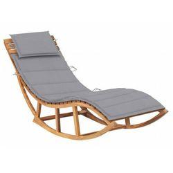 Jasnoszary jednoosobowy bujany leżak do ogrodu - afis 3x marki Elior