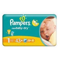 Pieluszki  new baby newborn rozmiar. 1, 43 szt., marki Pampers