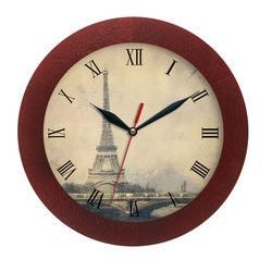 Zegar drewniany solid Paris
