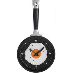 Zegar ścienny PATELNIA, kuchenny, Ø 18 cm