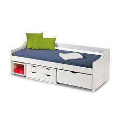 Producent: elior Jednoosobowe łóżko z szufladami nixer - białe