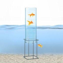 Blumfeldt skydive 60, wieża do obserwacji ryb, 60 cm, śr. 20 cm, akryl/metal, przezroczysta (4060656225369)