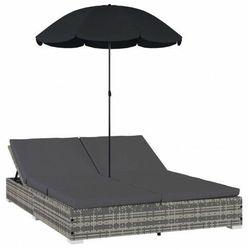 Leżak ogrodowy z parasolem - Izola