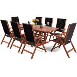 Meble ogrodowe drewniane Meranti Maxi Black 150 / 200 cm