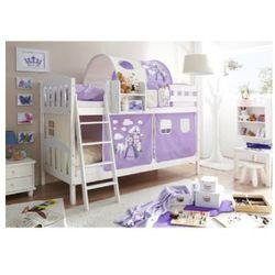 Ticaa kindermöbel Ticaa łóżko piętrowe erni country-v sosna biała/ konik (liliowy)