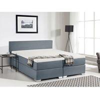 Łóżko kontynentalne 160x200 cm - tapicerowane - president szare wyprodukowany przez Beliani