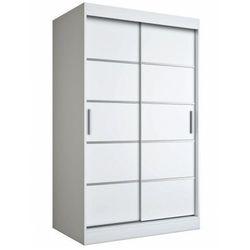 Biała dwudrzwiowa szafa przesuwna 120 - Livia 3X, kolor biały