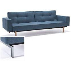 sofa splitback z podłokietnikami niebieska 525 nogi chromowane - 741010020525-741010020-0-2 od producenta Innovation istyle