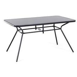 Stół ogrodowy 140 x 80 cm czarny LIVO
