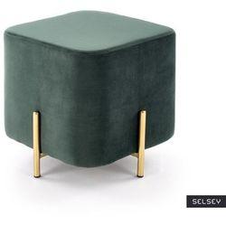 pufa moli na złotych nogach butelkowa zieleń marki Selsey