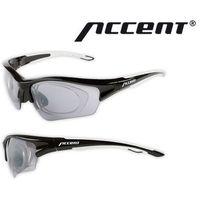 610-40-86_ACC Okulary ACCENT Wind czarno - grafitowe matowe z adapterem, 2 pary soczewek (5902175604951)