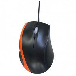 Mysz  orange line, optyczna, przewodowa, czarno-pomarańczowa 34822 darmowy odbiór w 20 miastach!, marki Logo