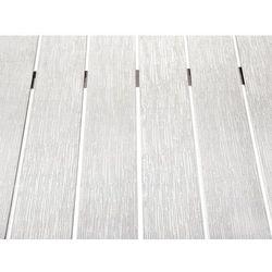 Beliani Aluminiowe meble ogrodowe białe nardo (7081456535035)