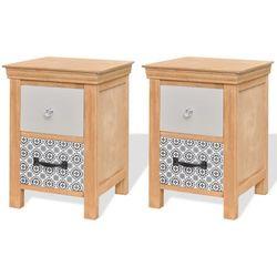Vidaxl  szafki z szufladkami 2 szt. 34x34x46 cm lite drewno