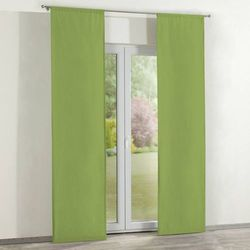 zasłony panelowe 2 szt., spring green (limonkowa zieleń), 60 × 260 cm, cotton panama marki Dekoria