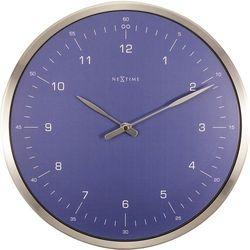 Zegar ścienny 60 Minutes niebieski by NeXtime, 3243 BL