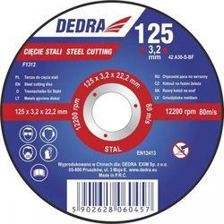Tarcza do cięcia DEDRA Tarcza do cięcia DEDRA F1312 125 x 3.2 x 22.2 do stali z kategorii Tarcze do cięcia