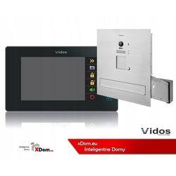 Zestaw wideodomofonu Vidos S1201A-SKM_M1021B Skrzynka na listy z wideodomofonem Monitor czarny 7''