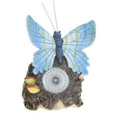 Lampa solarna motyl błękitny figurka kamienna - Wzór IV - produkt z kategorii- Lampy ogrodowe