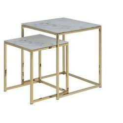 ACTONA zestaw stolików ALISMA marmur - szkło, metal, 0000075635 (11877012)