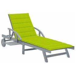 Elior Jasnozielony leżak ogrodowy - solar