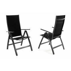Zestaw 2szt. czarnych krzeseł ogrodowych Deluxe