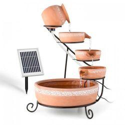 empoli fontanna kaskadowa terakota 5 poziomów 200 l/godz. 2-watowy solar led marki Blumfeldt