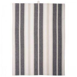 Ib Laursen Ręcznik Kuchenny w Szaro-Beżowe Paski - 6604-00 - produkt z kategorii- Ręczniki