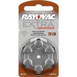 6 x baterie do aparatów słuchowych  extra advanced 312 mf, marki Rayovac