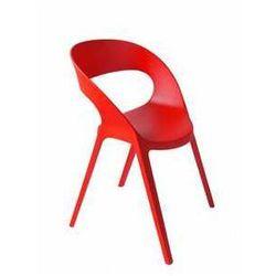 Designerskie krzesło ogrodowe do kawiarni CARLA Resol czerwone, kup u jednego z partnerów