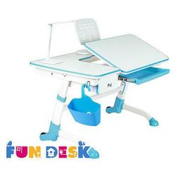 Fundesk Amare blue with drawer - biurko dziecięce regulowane z szufladą - szkolna promocja!