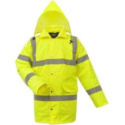 vidaXL Męska kurtka odblaskowa żółta poliestrowa rozm. L (8718475954392)