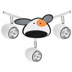 Lampa dla dziecka Piesek - Doggy biały/ chrom 3x50W GU10, 2104302