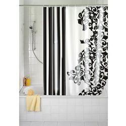 Zasłona prysznicowa, tekstylna, ornamento nero, 180x200 cm, marki Wenko