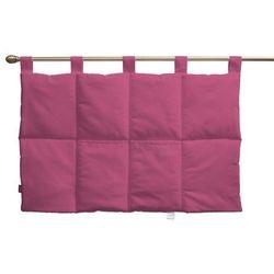 wezgłowie na szelkach, różowy, 90 x 67 cm, loneta marki Dekoria