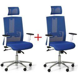 Krzesło biurowe essen white 1+1 gratis, niebieskie marki B2b partner