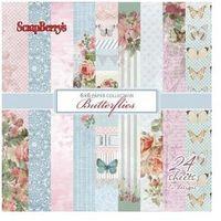 Ozdobny papier butterflies 15,2x15,2cm/24szt. marki Scrapberrys