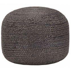 Okrągła pufa podnóżek z juty - Azalia 2X
