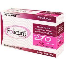 FOLICUM ACIDUM 270 tabletek (tabletki)