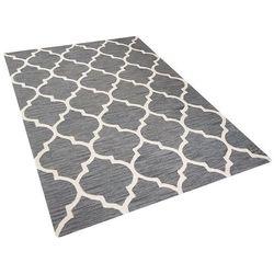 Dywan szary - 160x230 cm - handmade - bawełna - YALOVA (7105276341901)