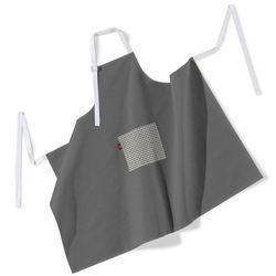 Dekoria Fartuch szefa kuchni męski, szary, 123x100 cm, Quadro