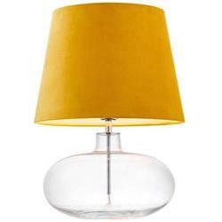 Stojąca lampka biurkowa sawa velvet 41011114 szklana lampa abażurowa do sypialni nocna przezroczysta żółta marki Kaspa