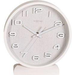 """Zegar stojący """"Wood Wood Small"""" biały by Nextime, 5192 WI"""