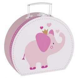 Walizka różowa ze słoniem - zabawki dla dzieci - oferta [9546da40031fb737]