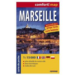 Marsylia ExpressMap Marseille Plan Miasta 1:15 000 comfort! map, rok wydania (2014)