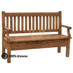 Woodica Ławka hacienda 03 [p + schowek+ podparcie] 120x98x56