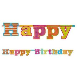 BANER HAPPY BIRTHDAY 16x166 cm, #A41